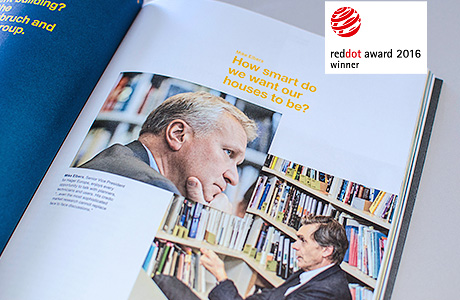 Hager Group Digital Annual Report awarded twice with Red Dot Award: Communication Design 2016