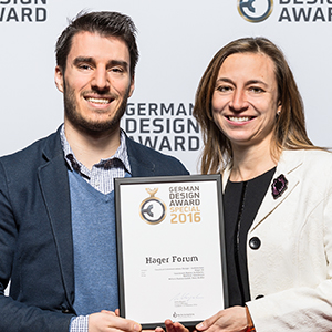Hager Forum receives a prize at the German Design Awards in Frankfurt
