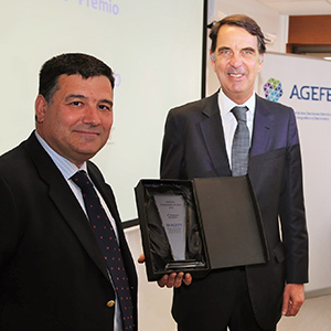 Hager Portugal was awarded Best Supplier of the Year by AGEFE